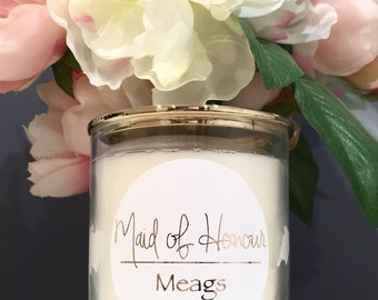 Additional Bridesmaid Soy Candle Gift - Style #3
