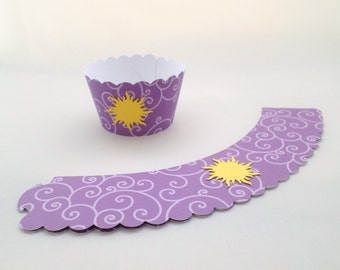 Set of 12 Tangled Themed Party Cupcake Wrappers