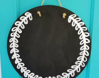 Wooden Circle Chalkboard Doorhanger