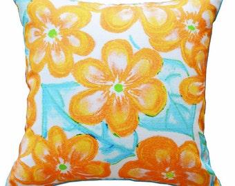 Blossom Orange Cushion cover
