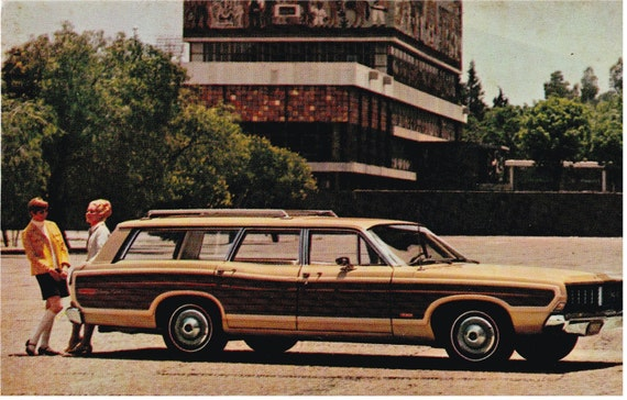 1968 Ford Country Squire - Dealer Postcard