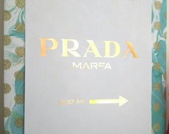 Foil Poster - Prada