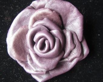 Purple Rose Brooch leather, Purple Rose Brooch flower,  leathet Purple Rose Brooch, rose flower brooch leathet, Purple flower brooch leather