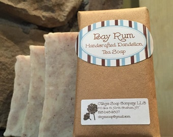 Bay Rum Scented Soap, Hot Processed Soap, Palm Oil Free Soaps, Bay Rum Soap, Men's Soap, Cocoa Butter Soap, Father's Day Gift, Bayrum soap