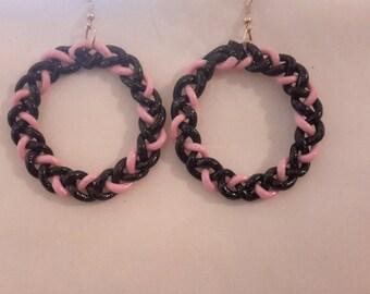 Black Braid with Pink