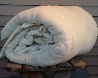 """Lap Size Wool Comforter Batt, -Approx. 45"""" X 72"""" Handmade Cheesecloth lined  batt."""