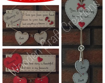 Personalised Wooden Valentine's Love Plaque