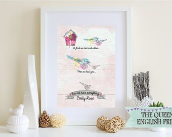 At First We Had Each Other... Framed Personalised Print