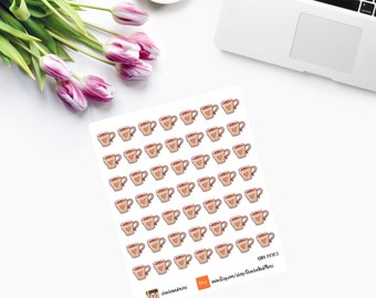 Mini Coffee Cup Planner Stickers CAM00102