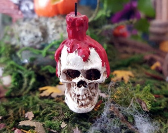 Miniature Skull Candle