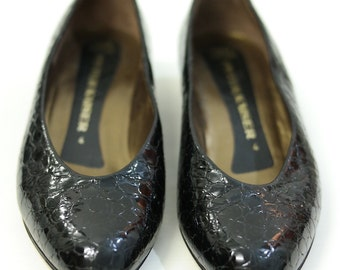 Vintage pumps shoes in patent leather