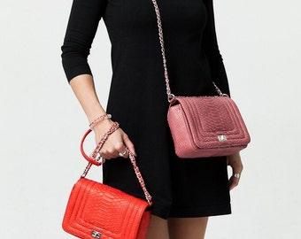 CROSSBODY Python leather BAG FREE shipping