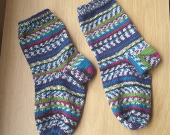 Custom Hand Knit Socks