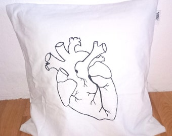 HEART pillowcase 35 x 35