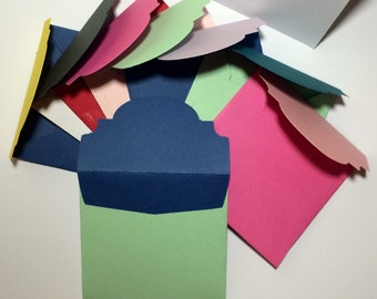 """Square bi-colored envelopes with cards 3x3"""" (10)"""