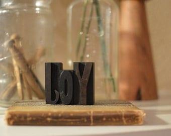 "Vintage Letterpress Wood Type - ""Joy"""