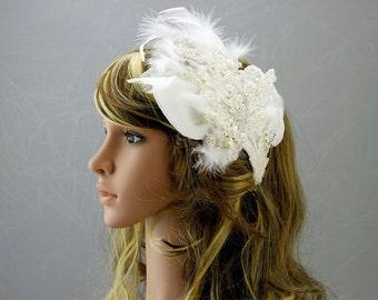 Ivory/White Bridal Headpiece