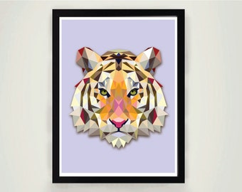 Printable Poster Print, Tiger Tiger, It is yout life Inspirational print, Motivational print, Modern home art, Positive Poster