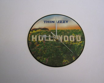 "Thin Lizzy - ""Hollywood"" Picture Disc Record Wall Clock"