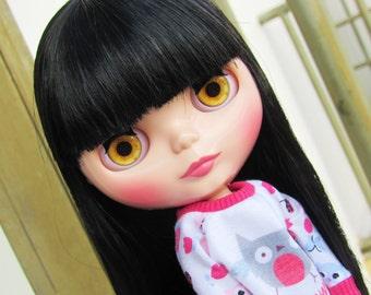 Realistic Orange Blythe Doll Eyechips