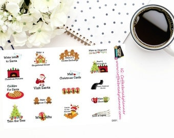 Planner Stickers   Christmas Events Stickers  Christmas To Do List Stickers Christmas Fun Christmas Wish List Christmas Season D051