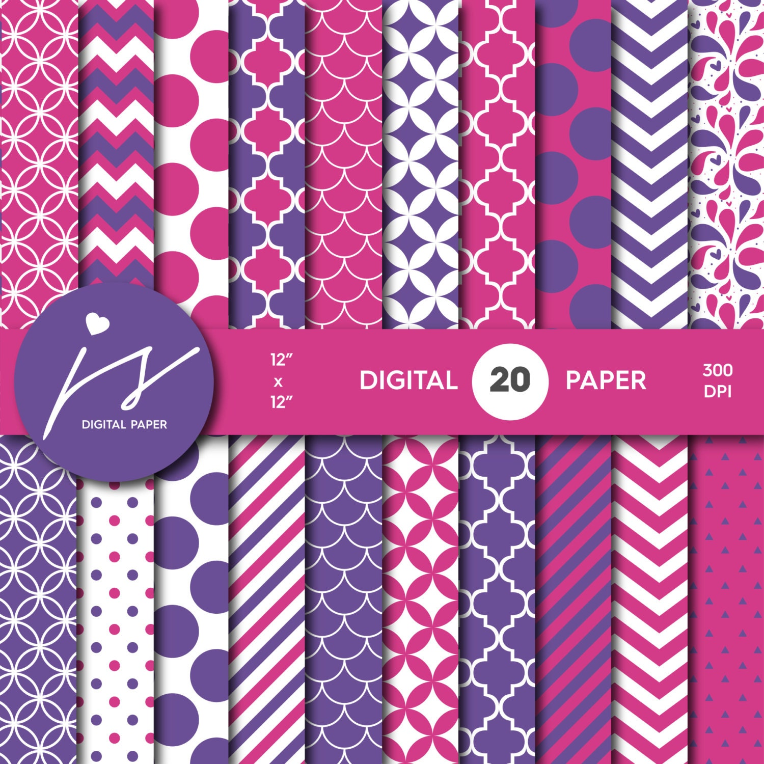 It is a picture of Légend Purple Scrapbooking Paper
