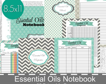 Essential Oils Planner, Essential Oil Notebook, Essential Oil Printable, Young Living, Doterra, Essential Oil Recipe Keeper, Oil Binder
