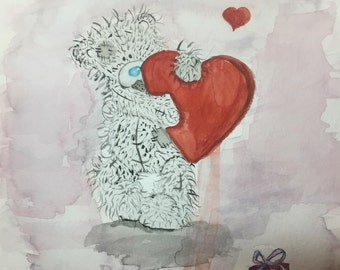 Me to you teddy bear with the red heart!!!