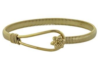 18K Gold Filled Bangle Bracelet - Will Last for YEARS