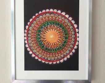 Print of Sun Mandala Painting