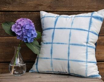 Hand Dyed Shibori Pillow || Pillow Cover || Decorative Pillow || Indigo Dyed