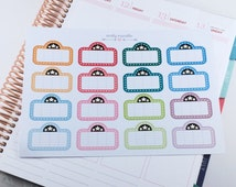 Movie Night Glossy Planner Stickers - Winter/Spring Colours