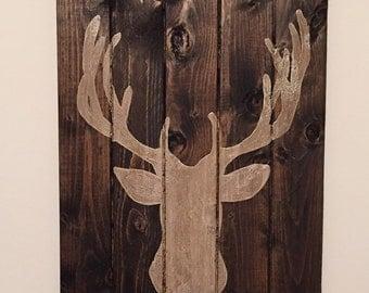 Rustic Deer Sign