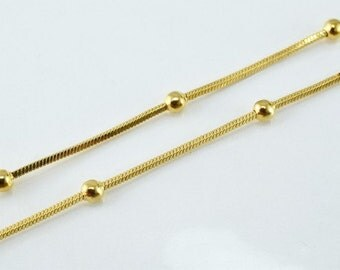 "18K Gold Filled Chain 17"" Inch CG72"