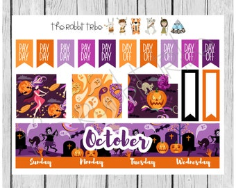 Freestyle Planning - October Monthly Kit - halloween - planner stickers