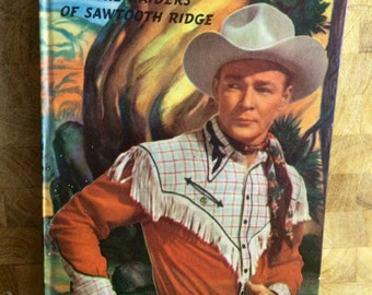 Roy Rogers - 1940s cowboy book - Trigger - 1950s television - ranch decor - cowboy decor - western decor - man cave -