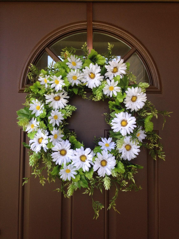 Front Door Wreath Summer Daisy Wreath Outdoor Grapevine