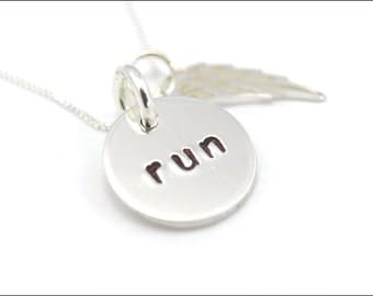 RUN Running Necklace | #run| Inspirational Running Jewelry | Gift for Runner
