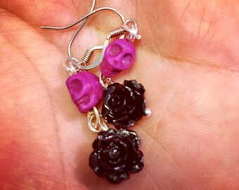 Black Roses and Purple skulls