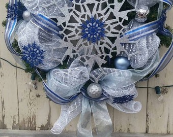 On Sale!!! Snowflake Christmas Wreath