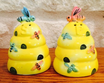 Enesco Bee Hive Salt and Pepper Shakers from Japan