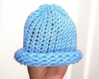 Hand-Knit Baby Hat
