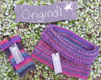 Harmonie Finger-less Knitted Gloves