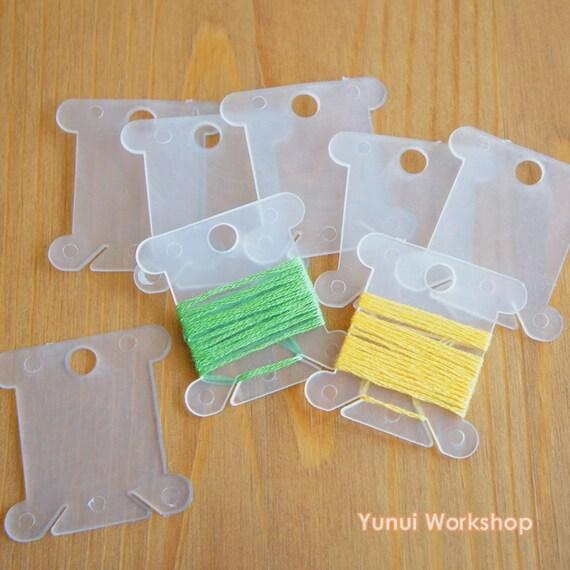 Cross Stitch Floss Organiser Clear Plastic 40mm X 38mm