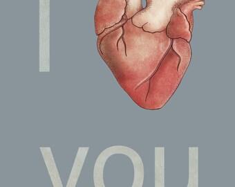 I <3 You Card