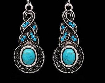 Turquoise sprial earrings