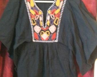 Beautiful beaded hippie boho tunic flared arm tunic top
