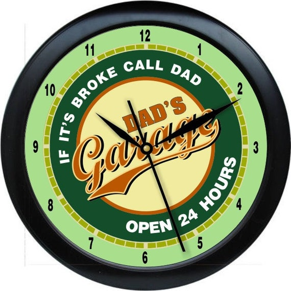 Man Cave Garage Clocks : Dad s garage man cave wall clock gift decore