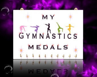 FEMALE Gymnastics Sports Medal Hangers, Displays & Plaques