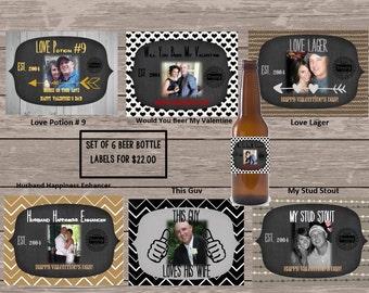 Custom Set of Beer Bottle Labels